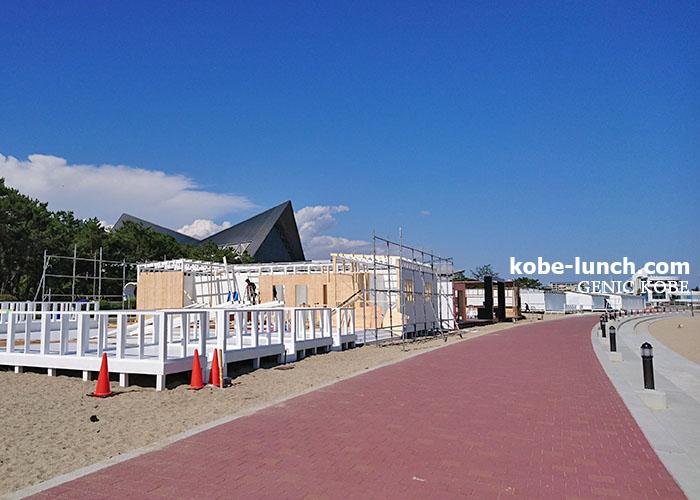 須磨海岸 海の家