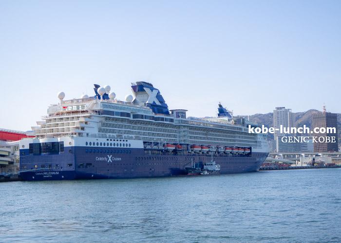 神戸大橋 豪華客船