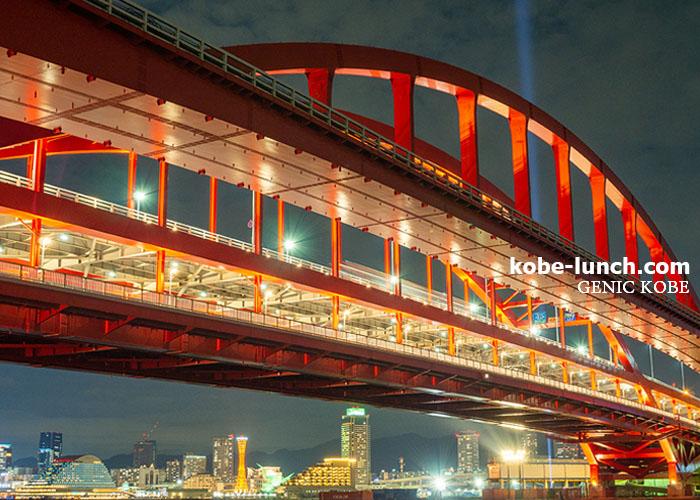 神戸大橋ライトアップ