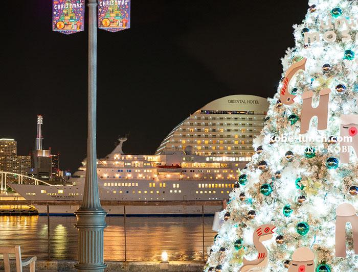 ハーバーランドモザイク 光の広場 クリスマスツリー