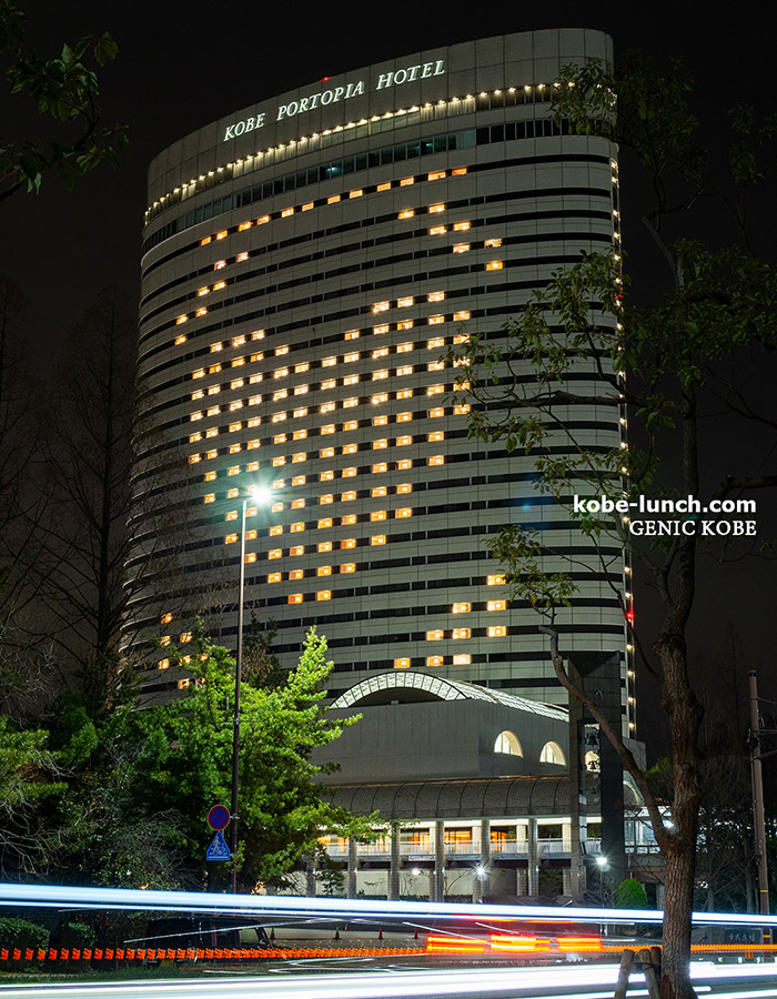 神戸ポートピアホテル ライトアップ ハート