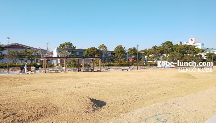 須磨海岸 ベンチ広場 リニューアル