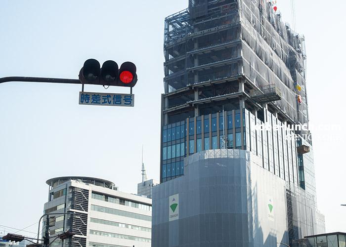 神戸阪急ビル東館が着々と立替え工事中