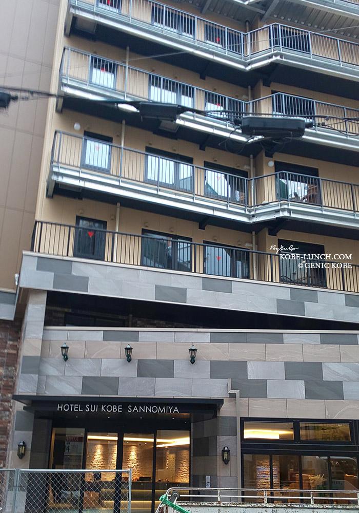 三宮東門街にホテルSUI