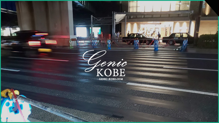 阪急三宮駅前(東側)の横断歩道が北側に移動
