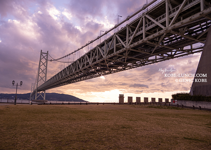 明石海峡大橋でマラソン大会開催