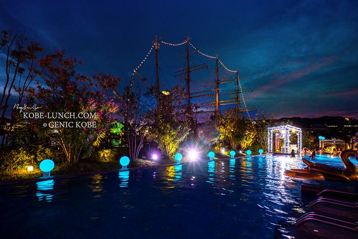 神戸みなと温泉蓮のナイトプール