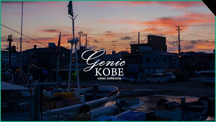 長田港で夕陽を見ながら黄昏