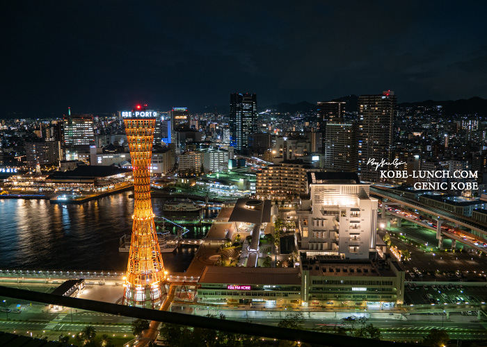 ホテルオークラ神戸からの夜景