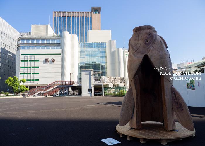 JR三ノ宮駅前に「六甲ミーツ・アート芸術散歩 2021」
