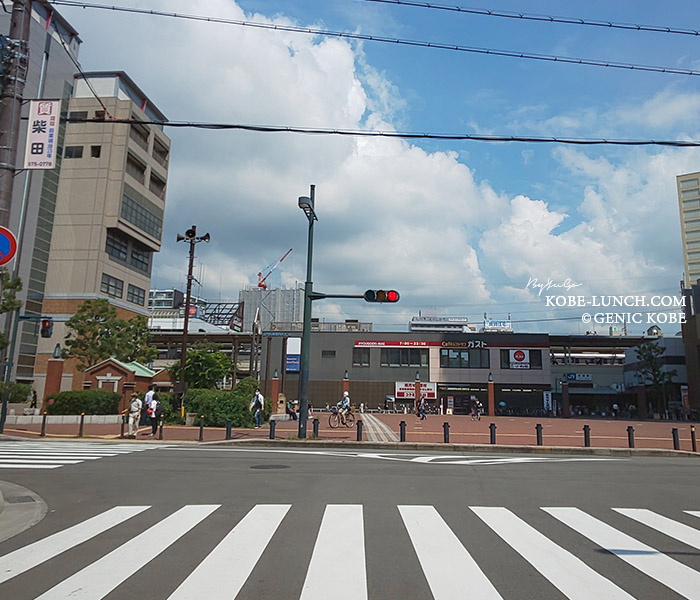 兵庫駅前にサンディ