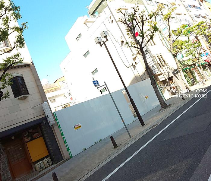 三宮北野坂「正家」本店跡地は...タイムズ駐車場